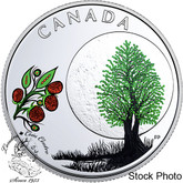 Canada: 2018 $3 Thirteen Teachings From Grandmother Moon: Raspberry Moon Pure Silver Coloured Coin