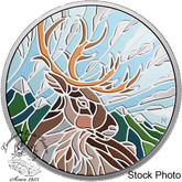 Canada: 2018 $20 Canadian Mosaics: Caribou 1 oz. Pure Silver Coin