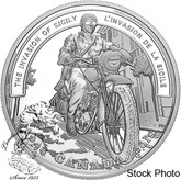 Canada: 2018 $20 Second World War Battlefront: The Invasion of Sicily 1 oz. Pure Silver Coin