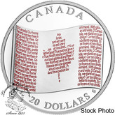 Canada: 2018 $20 Canadian Flag 1 oz. Pure Silver Coloured Coin