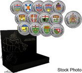 Canada: 2018 Heraldic Emblems of Canada - Pure Silver 14-Coin Set