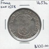 France: 1653L ECU Louis XIV