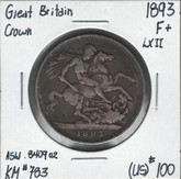 Great Britain: 1893 Crown LXII F+