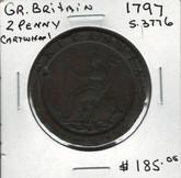 Great Britain: 1797 2 Penny Cartwheel