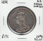 Great Britain: 1891 Crown #2