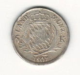German States: Bavaria: 1807 6 Kreuzer