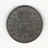 German States: Bavaria: 1842 6 Kreuzer