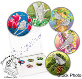 Canada: 2017 $10 Birds Among Nature's Colours: 5 Coin Pure Silver Set