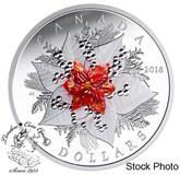 Canada: 2018 $50 Holiday Splendour 5 oz Pure Silver Coin
