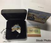 Australia: 2012 Map Shaped Coin: Emu 1 oz Silver Coin