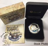 Tuvalu: 2011 $1 Ships That Changed The World: Golden Hind 1 oz Proof Silver Coin