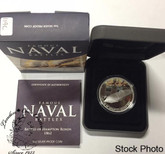 Cook Islands: 2012 $1 Famous Naval Battles: Hampton Roads Pure Silver Coin