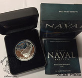Cook Islands: 2012 $1 Famous Naval Battles: Midway Pure Silver Coin