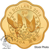 Canada: 2018 $15 Blessing of Harmony Gold Plated Pure Silver Coin