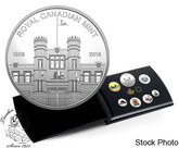 Canada: 2018 Pure Silver Coloured 6-Coin Set with Medallion - Canadian Circulation Collection