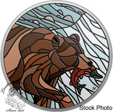 Canada: 2018 $20 Canadian Mosaics: Grizzly Bear 1 oz. Pure Silver Coin