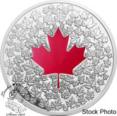 Canada: 2013 $20 Maple Leaf Impression Pure Silver Red Coloured Coin
