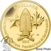 Canada: 2013 $5 Devil's Brigade Pure Gold Coin