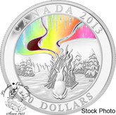 Canada: 2013 $20 A Story of the Northern Lights - The Great Hare Silver Hologram Coin