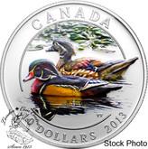 Canada: 2013 $10 Ducks of Canada - Wood Duck Pure Silver Coin