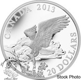 Canada: 2013 $20 The Bald Eagle Returning From the Hunt 1 oz Pure Silver Coin