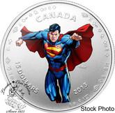 Canada: 2013 $15 Modern Day Superman™ Silver Coloured Coin