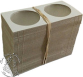 100 x Silver or Nickel Dollar size Cardboard 2x2 Flips (Holders)