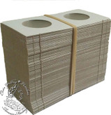 100 x Nickel 50 Cent, Loonie size Cardboard 2x2 Flips (Holders)