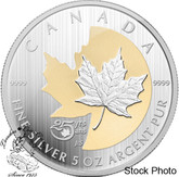 Canada: 2013 $50 25th Anniversary of the Silver Maple Leaf 5 oz Coin