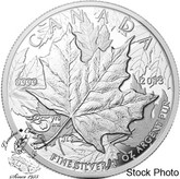 Canada: 2013 $5 High Relief Piedfort - 25 Anniversary of the Silver 1 oz Maple Leaf Coin