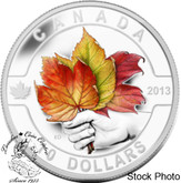 Canada: 2013 $10 Coloured Maple Leaf O Canada Series 1/2 oz Pure Silver Coin