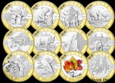 Canada: 2013 O Canada Series 1/2 oz Pure Silver with Gold 12 Coin Set