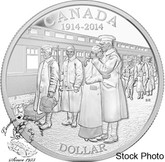 Canada: 2014 $1 100th Anniversary of the Declaration of the First World War Proof Silver Dollar Coin