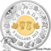 Canada: 2013 $5 Royal Infant with Toys Silver Coin - Prince George