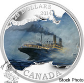 Canada: 2014 $20 Lost Ships in Canadian Waters: RMS Empress of Ireland Coloured Silver Coin