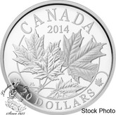 Canada: 2014 $20 Majestic Maple Leaves Silver Coin