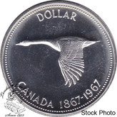 Canada: 1967 $1 Canadian Goose Proof Like