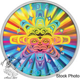 Canada: 2014 $20 Interconnections - Air - The Thunderbird Hologram Silver Coin