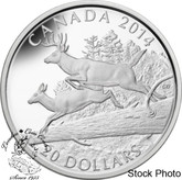 Canada: 2014 $20 The White-Tailed Deer - Mates Silver Coin
