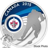 Canada: 2015 $10 Winnipeg Jets NHL Hockey  Silver Coin