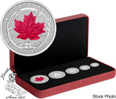 Canada: 2015 The Maple Leaf Silver Fractional Set