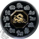 Canada: 2000 $15 Year of the Dragon Lunar Silver Coin
