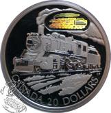 Canada: 2002 $20 D-10 Locomotive Silver Hologram Coin