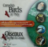Canada: 2000 50 Cents Birds of Prey Coin Set