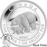 Canada: 2015 $5 Polar Bear and Cub Silver Coin