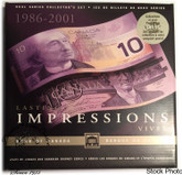 Canada: 1989 - 2001 $10 Lasting Impressions Banknote Set