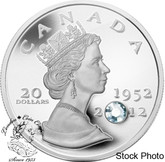 Canada: 2012 $20 Queen's Diamond Jubilee Pure Silver Coin with Crystal
