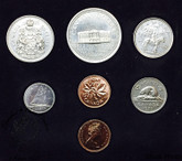 Canada: 1973 Specimen Double Penny Coin Set with Small Bust 25 Cent