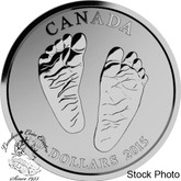 Canada: 2015 $10 Born in 2015 (Welcome to the World) Baby Feet Silver Coin