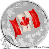 Canada: 2015 $25 The Canadian Flag Silver Coin
